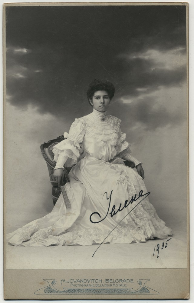 Studio portrait of Princess Jelena of Serbia, © Miloš Jurišić