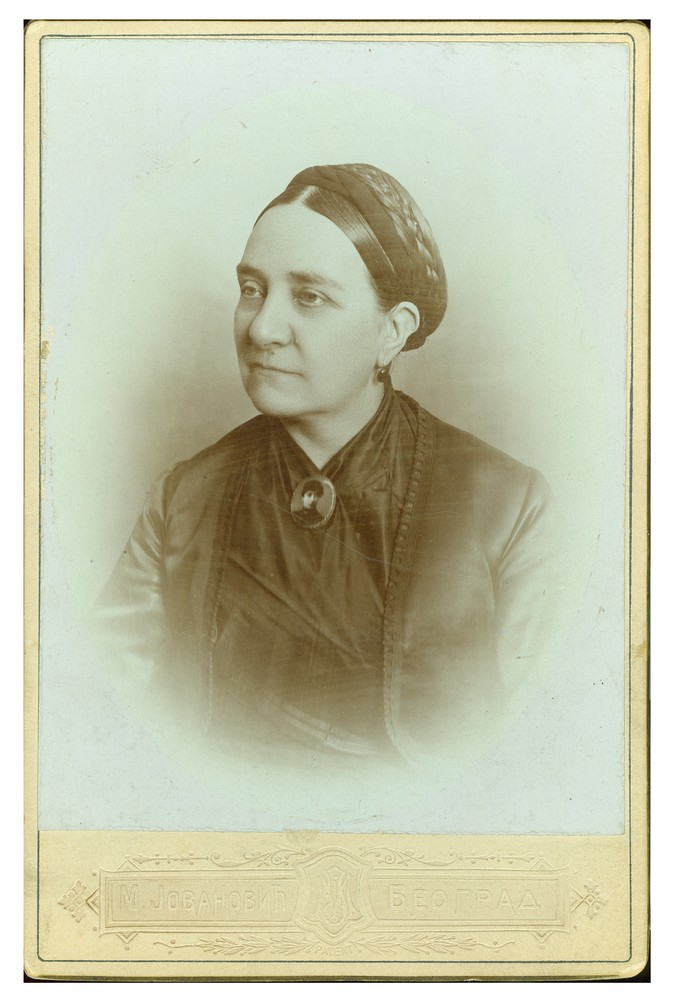 Studio portrait of Ms. Sara Arsenijević, © Ethnographic Museum in Belgrade
