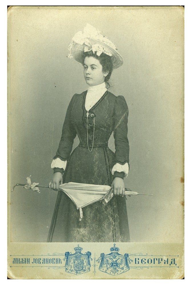Studio portrait of a young woman, © Ethnographic Museum in Belgrade
