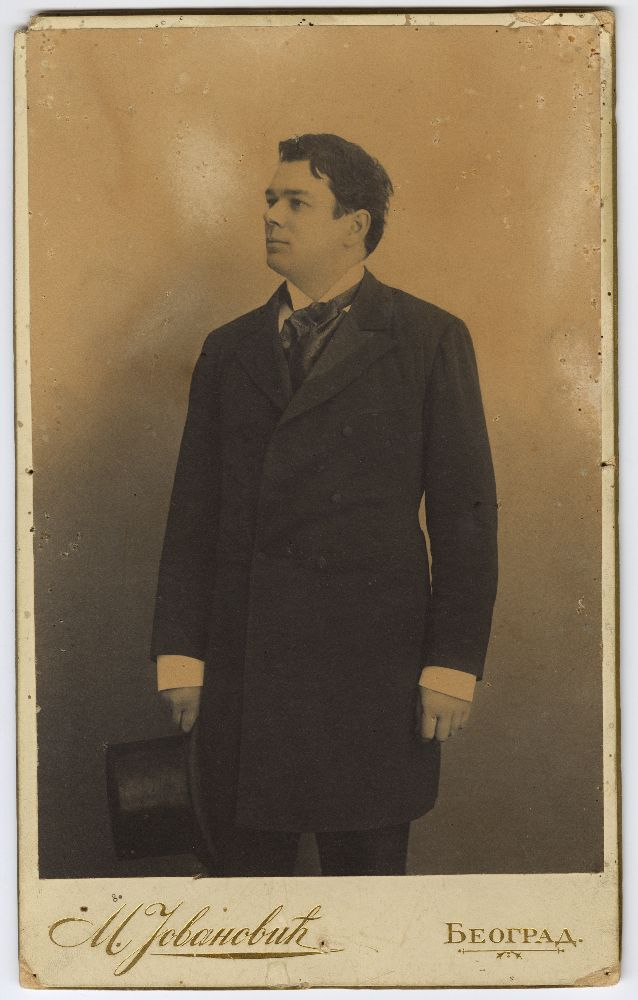 Studio portrait of Milorad Gavrilović, © Museum of Theater Art of Serbia