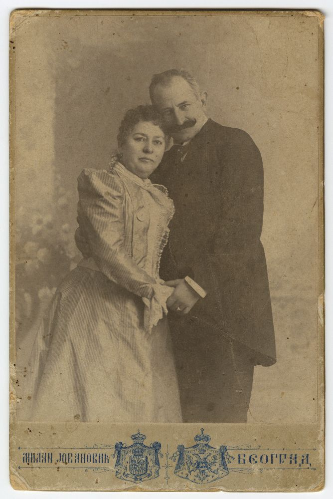 Studio portrait of Marija and Miloš Cvetić, © Museum of Theater Art of Serbia