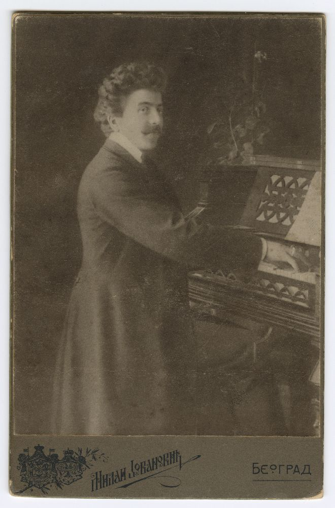 Studio portrait of composer Josif Marinković, © Museum of Theater Art of Serbia