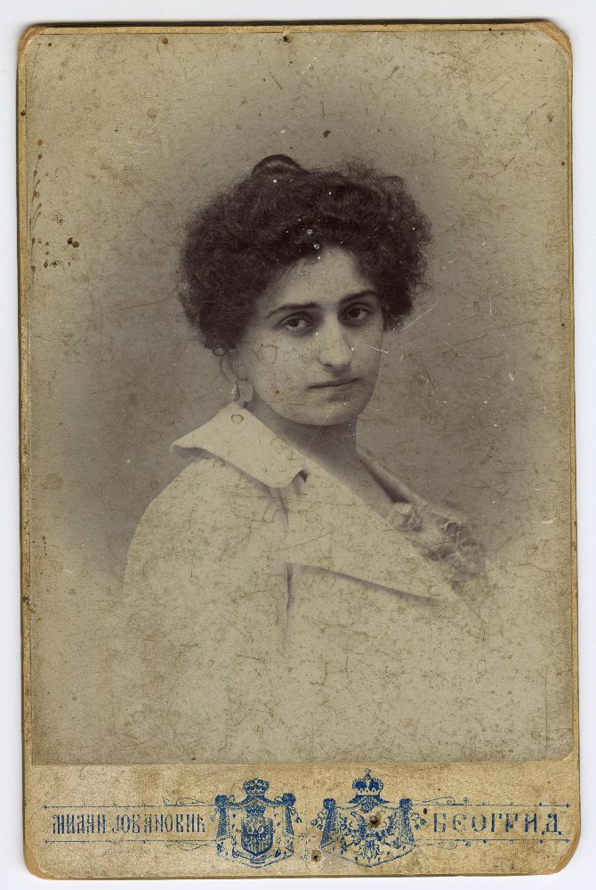 Studio portrait of actress Jelena Petković, © Museum of Theater Art of Serbia