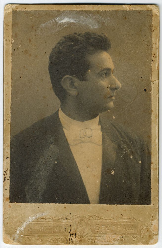 Studio portrait of actor Ljuba Stanojević, © Museum of Theater Art of Serbia