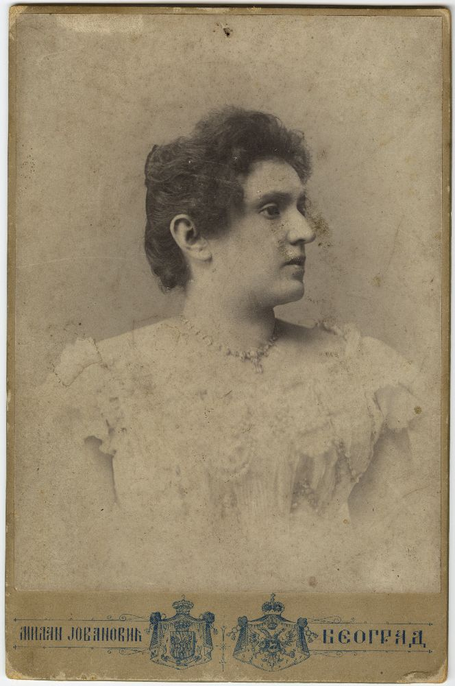 Studio portrait of Savka Miljković, © Museum of Theater Art of Serbia