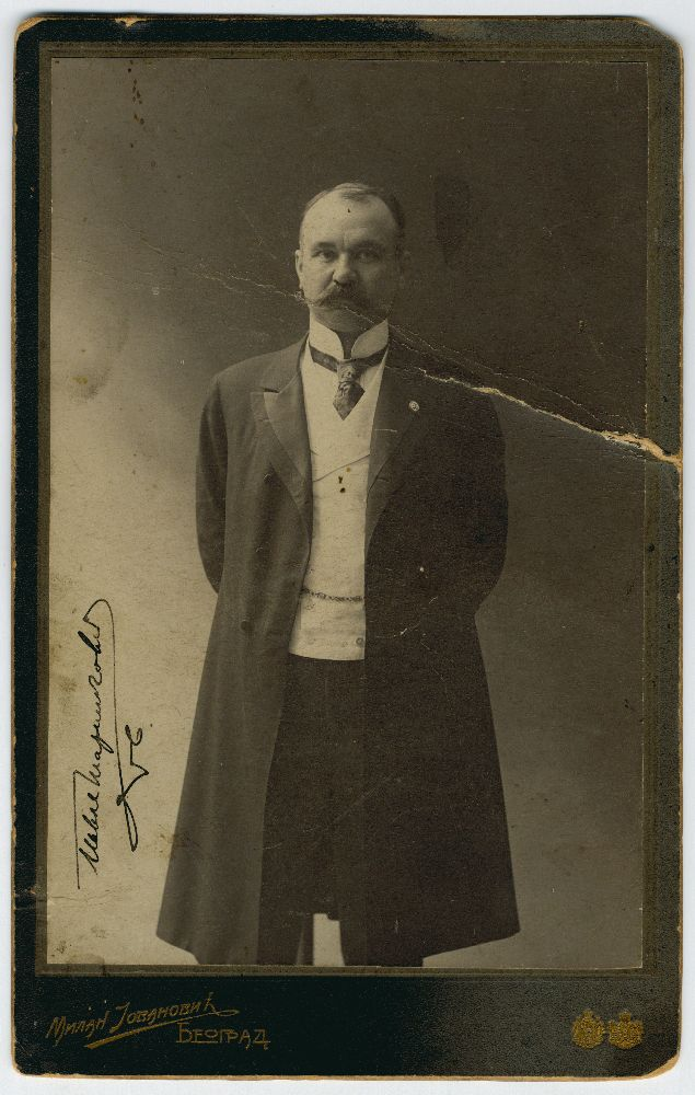 Studio portrait of Pavle Marinković, © Museum of Theater Art of Serbia