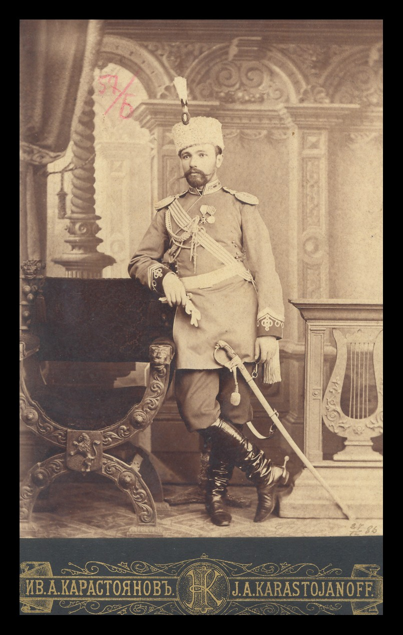 Studio portrait of Captain Nikola Ivanov, © National Museum of Military History Sofia