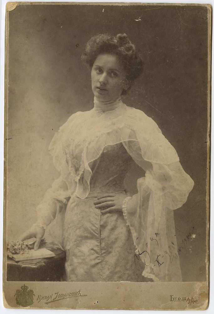 "Studio portrait of Sofija ""Coca"" Djordjević, © Museum of Theater Art of Serbia"