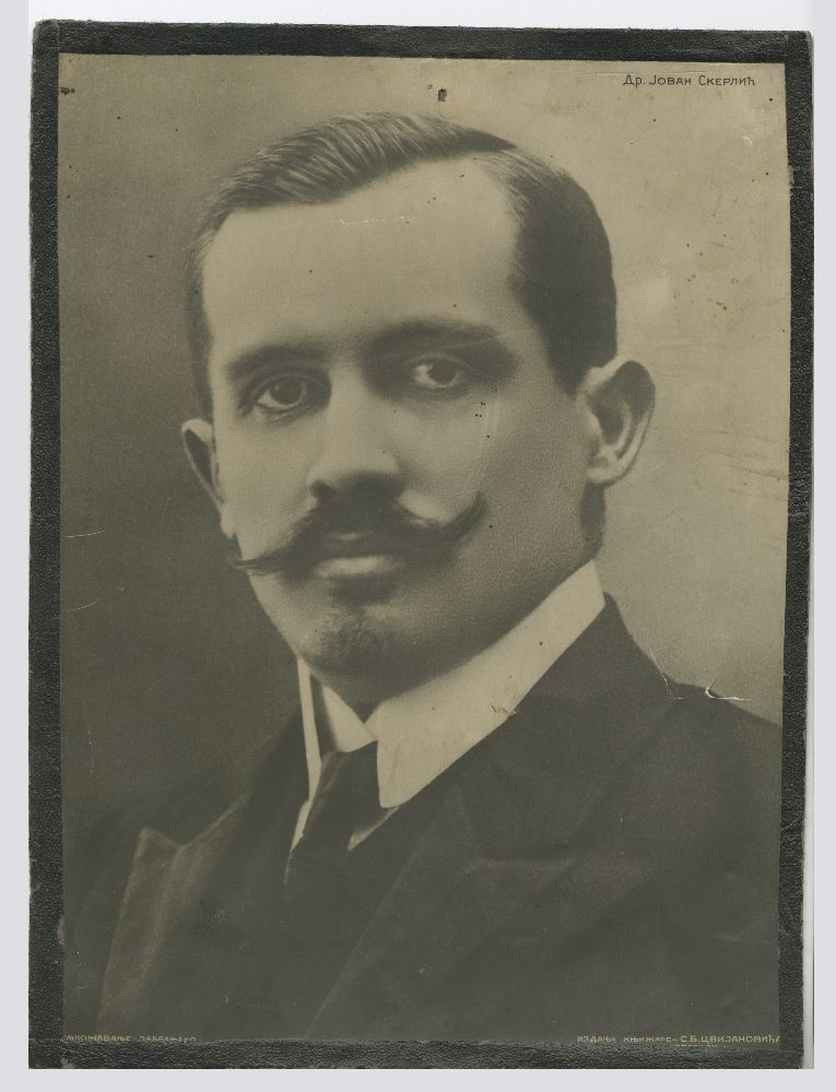 Head and shoulder shot of Dr. Jovan Skerlić, © Museum of Theater Art of Serbia