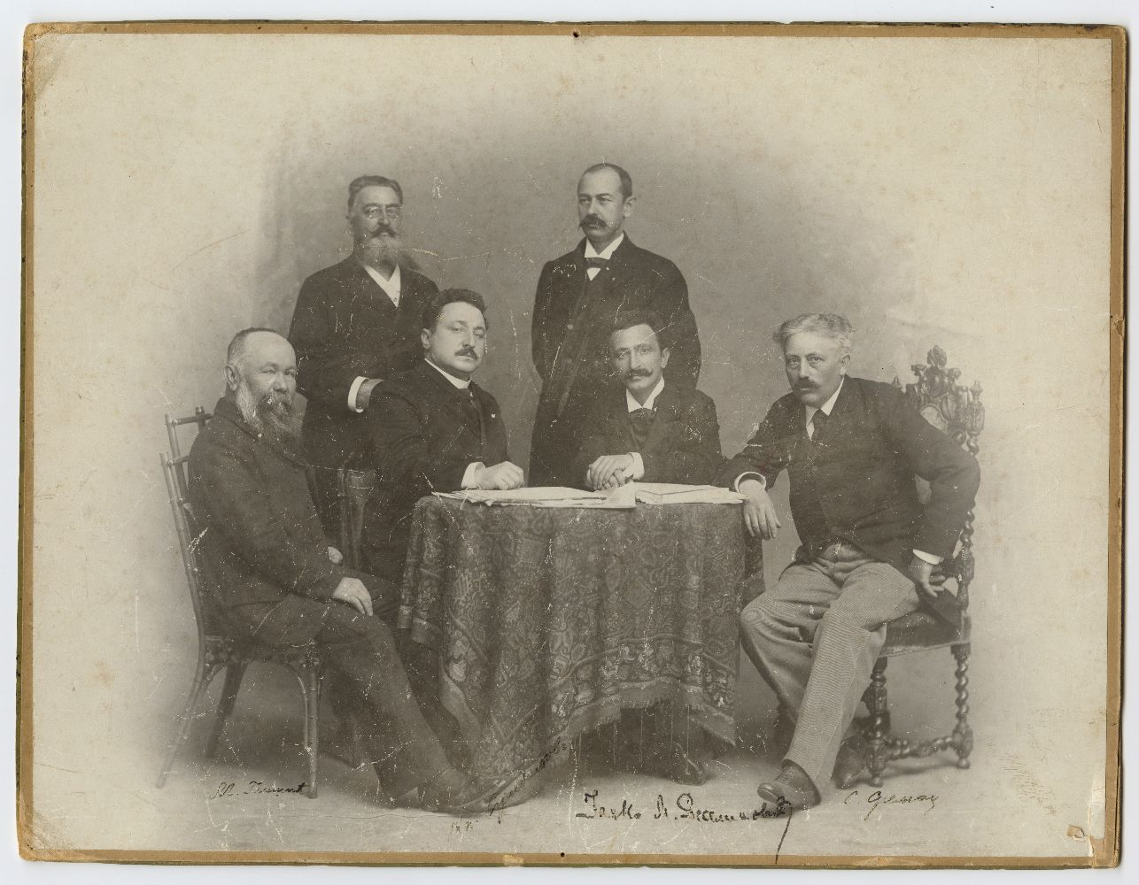 "Group shot of the ""Literary and artistic committee of the Royal National Theatre in Belgrade"", © Museum of Theater Art of Serbia"