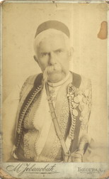 Studio portrait of Montenegrin general, clan chief and writer Marko Miljanov Popović, © National Library of Serbia