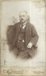 Studio portrait of journalist Lazar Komarčić, © National Library of Serbia