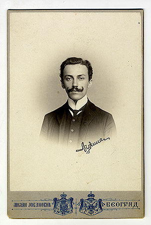 Studio portrait of Dr. Ljubiša Vulović, © National Library of Serbia