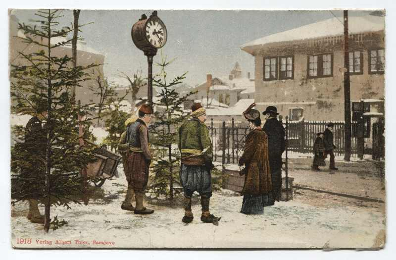 Christmas trees sale, © The Historical Archive of Sarajevo