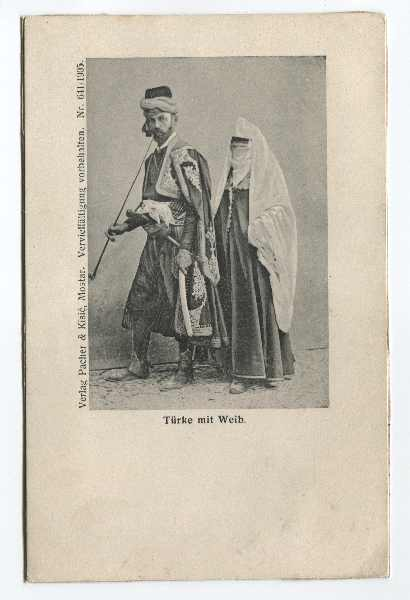 """Turk With His Wife"", © The Historical Archive of Sarajevo"