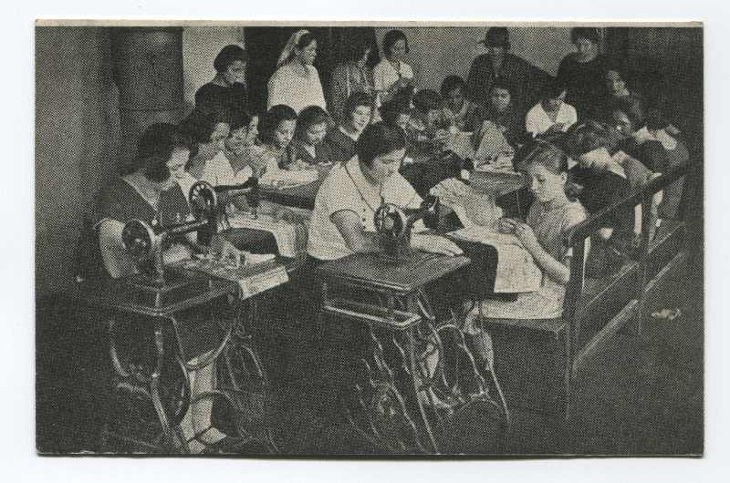 Women and girls making clothes, © Museum of City of Sarajevo