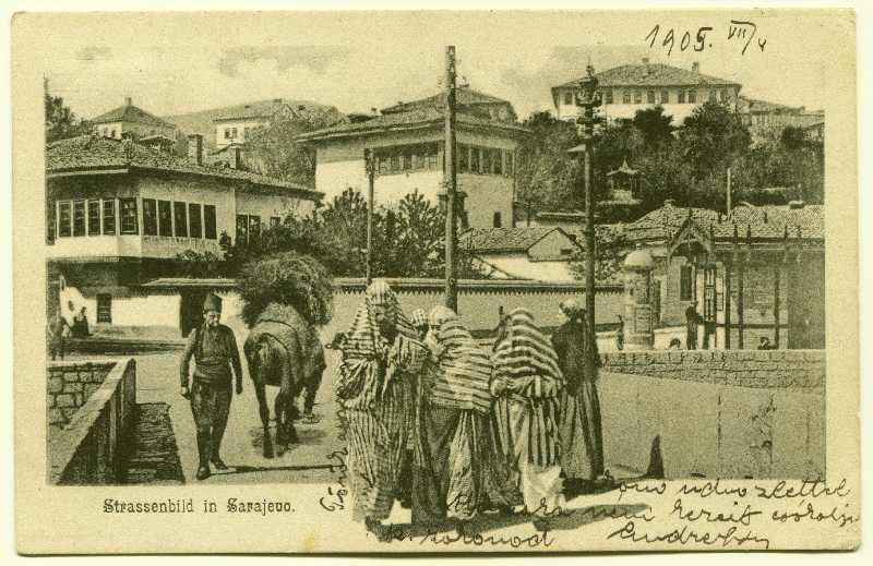 Street life at Šeher-Ćehajin Bridge and Mustaj-pasha's square, © Bosniac Institute - Adil Zulfikarpašić Foundation