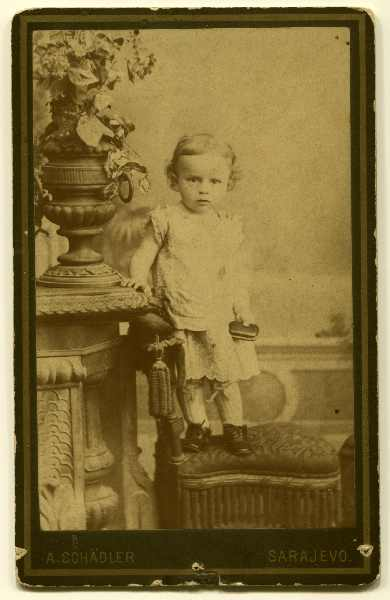 Studio portrait of a child, © The Historical Archive of Sarajevo