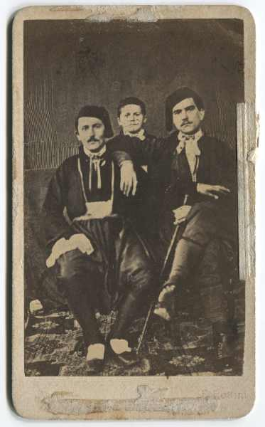 Studio portrait of two men and a boy, © The Historical Archive of Sarajevo