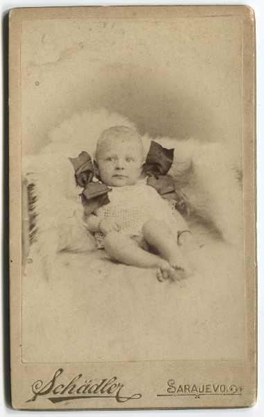 Studio portrait of a baby, © The Historical Archive of Sarajevo