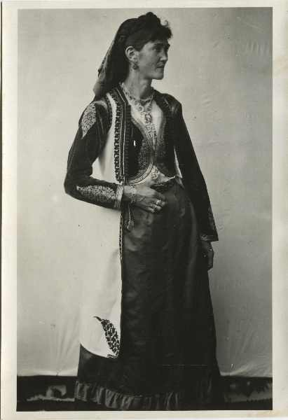 Woman in an old traditional Serbian costume from Montenegro, © The Historical Archive of Sarajevo
