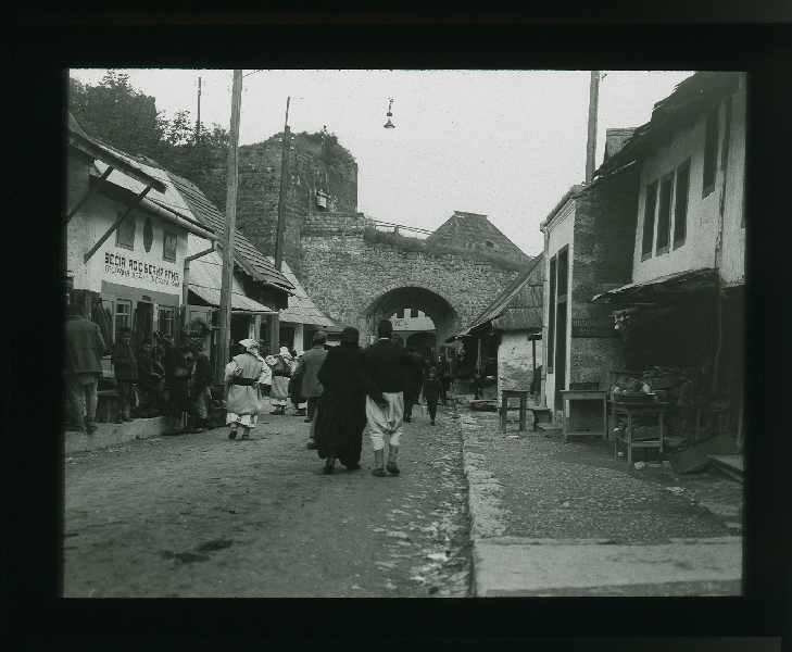 Street scene in a Bosnian town, © The Austrian Museum of Folk Life and Folk Art