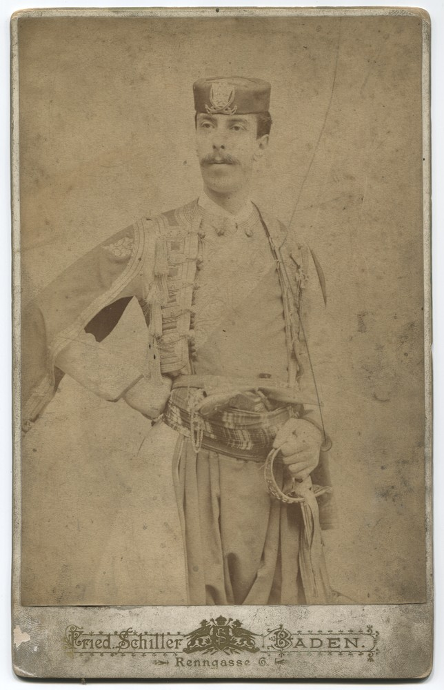 Studio portrait of a man wearing a Bey's costume, © Museum of City of Sarajevo