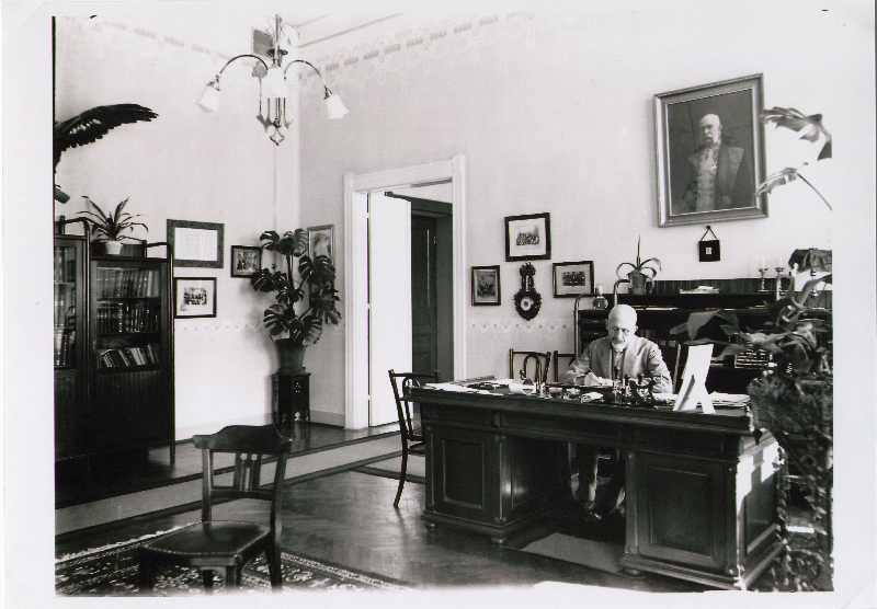 School headmaster Martin Bedjanić in his office, © The National Museum of Bosnia and Herzegovina
