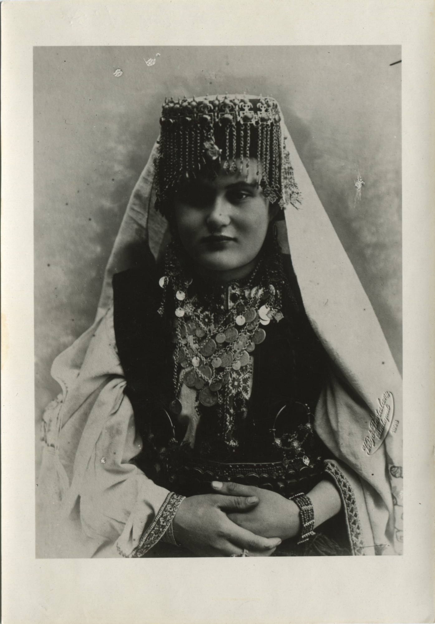 Portrait of a woman in a formal Christian costume from Herzegovina, © The Historical Archive of Sarajevo