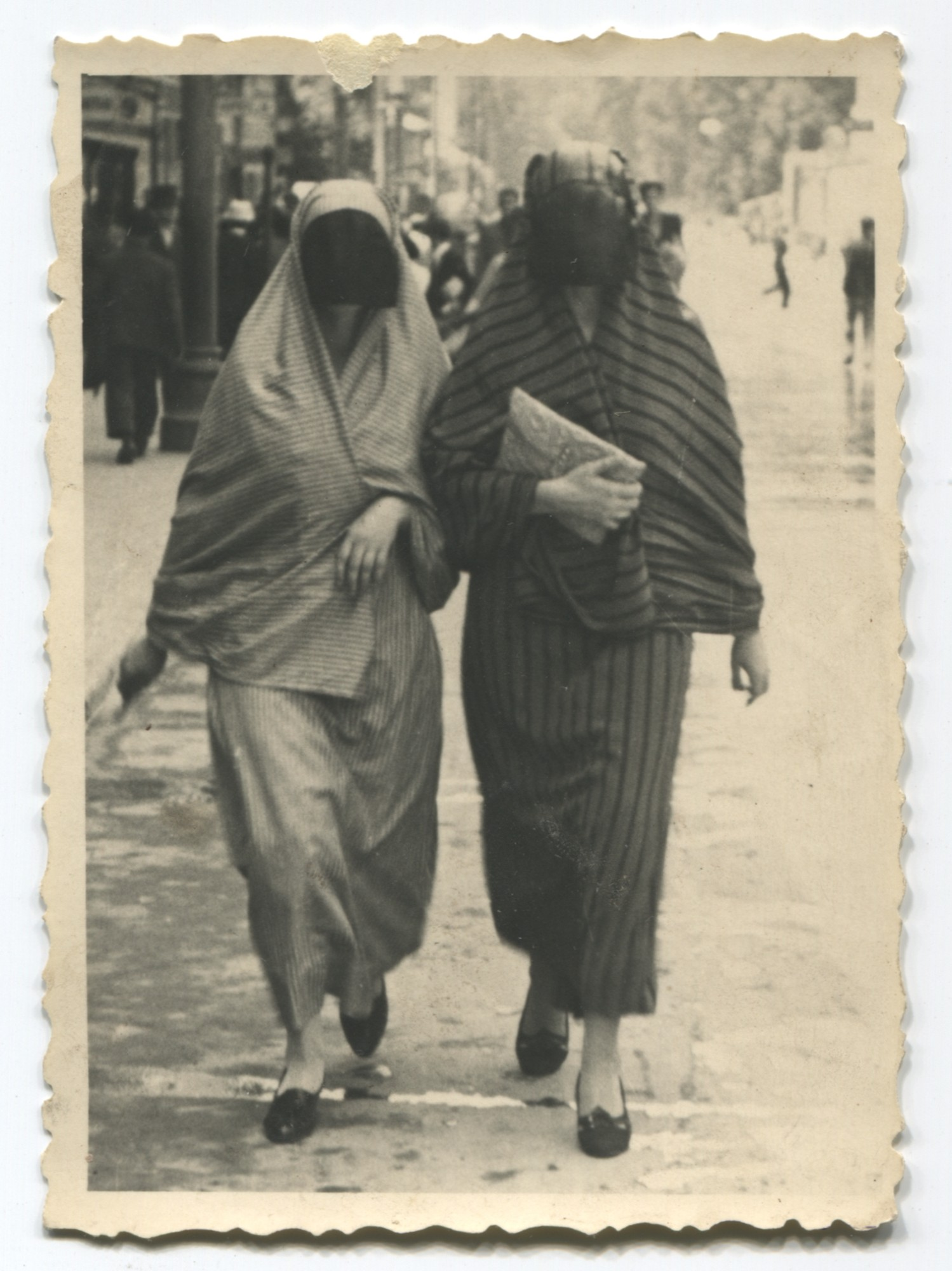 Two Muslim women walking in the street, © Museum of City of Sarajevo