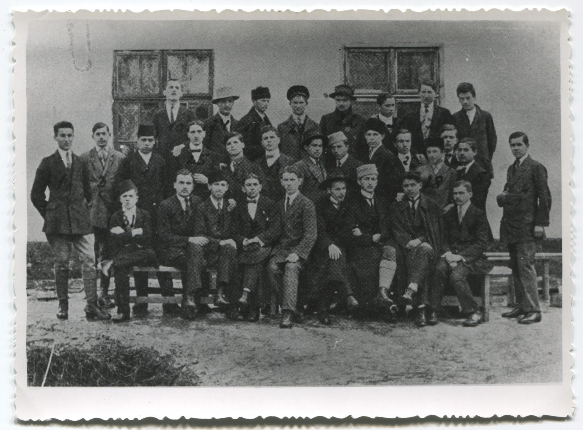 "Interned members of the secret organisation ""Srpsko-Hrvatske nacionalističke omladine"" (Serbo-Croatian National Youth), © Museum of City of Sarajevo"