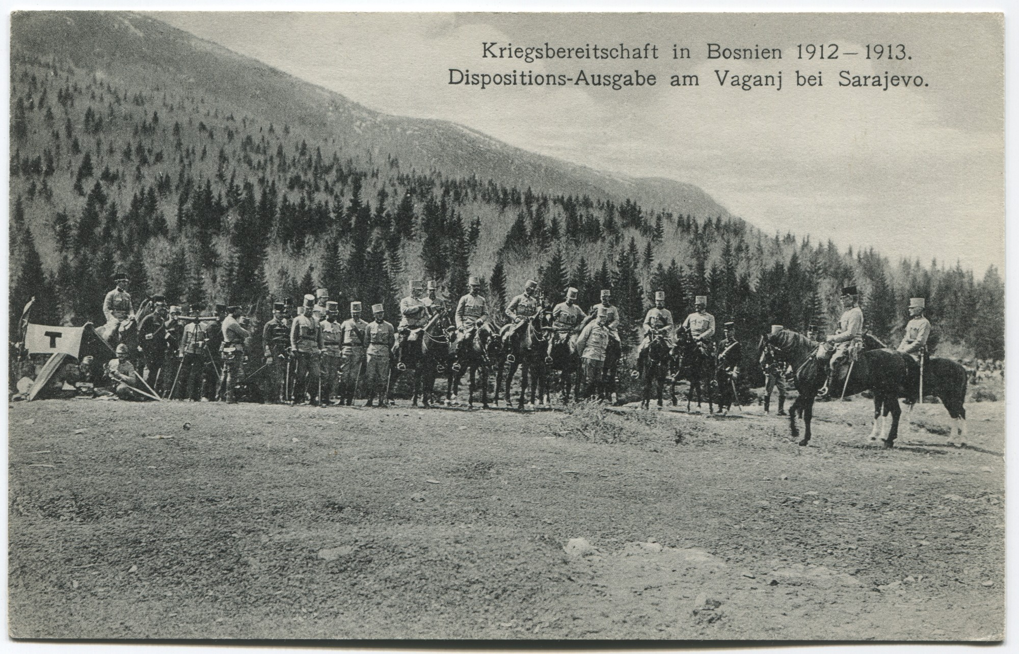 """Readiness For War In Bosnia 1912-1913. Communication Of Anticipated Troop Dispositions On Mount Vaganj Near Sarajevo."", © Museum of City of Sarajevo"