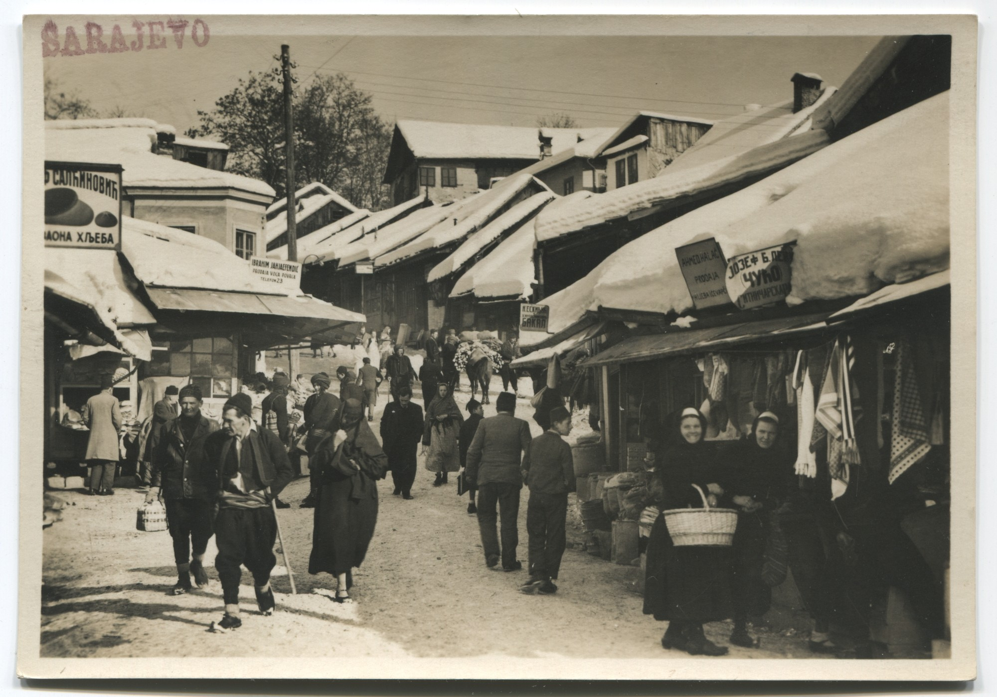 Shops at the bottom of Kovači street, © Museum of City of Sarajevo