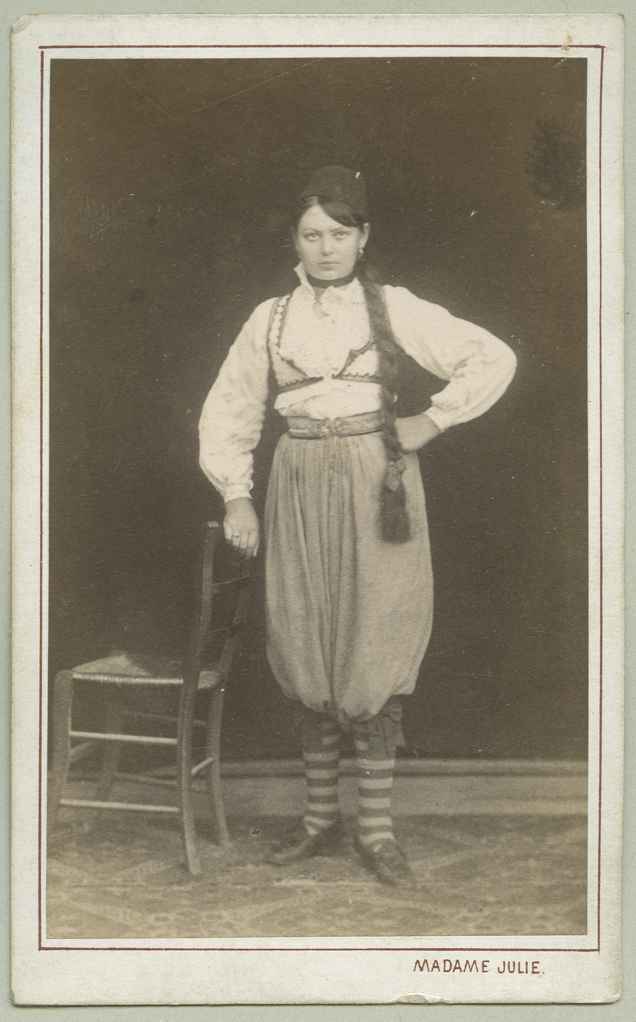 Studio portrait of a girl, © The Austrian Museum of Folk Life and Folk Art