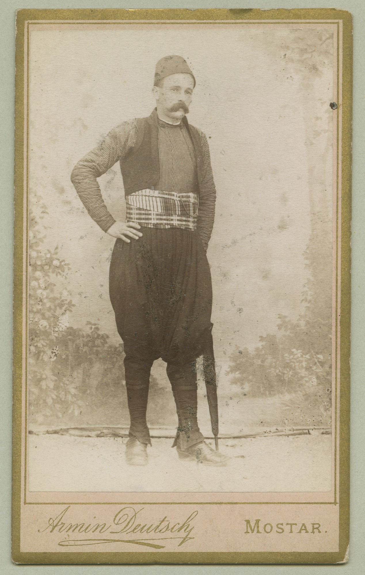 Studio portrait of a man in urban clothes, © The Austrian Museum of Folk Life and Folk Art