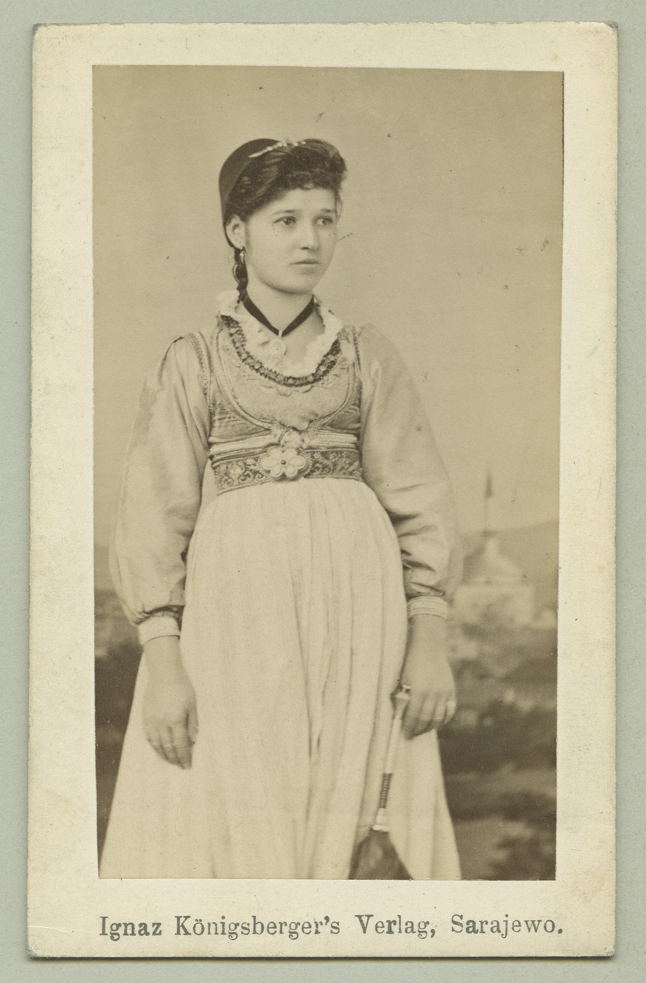 Studio portrait of a young unmarried townswoman, © The Austrian Museum of Folk Life and Folk Art