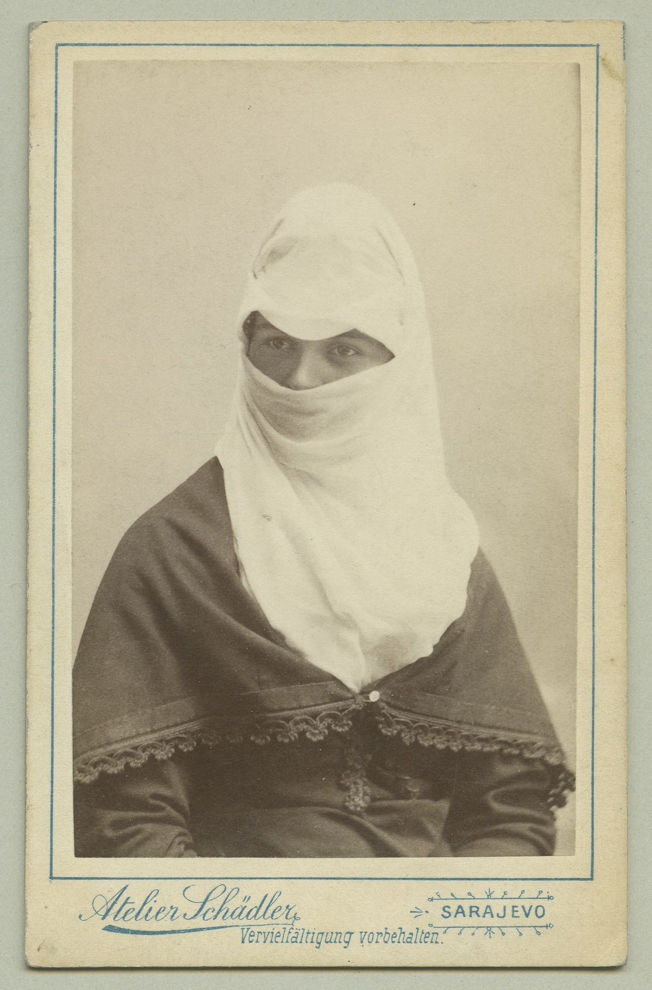 Portrait of a woman with a headscarf, © The Austrian Museum of Folk Life and Folk Art