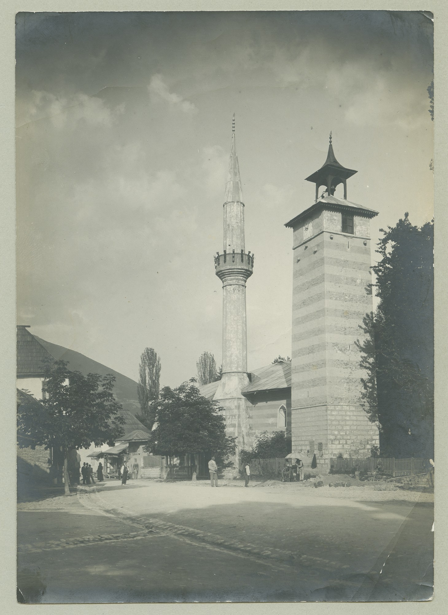 Mosque with a clock tower, © The Austrian Museum of Folk Life and Folk Art