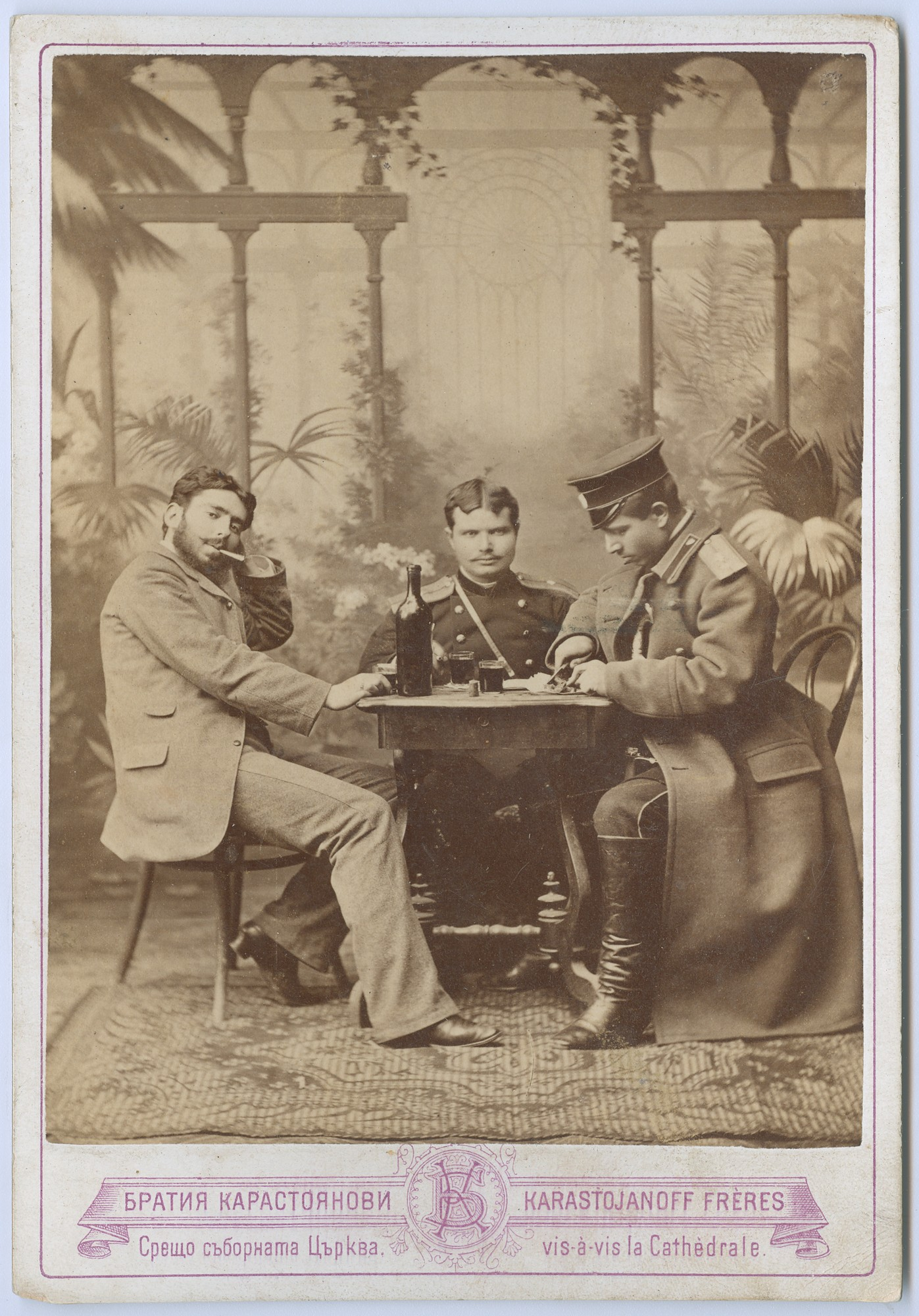 Group portrait of three men, © State Archives - Plovdiv