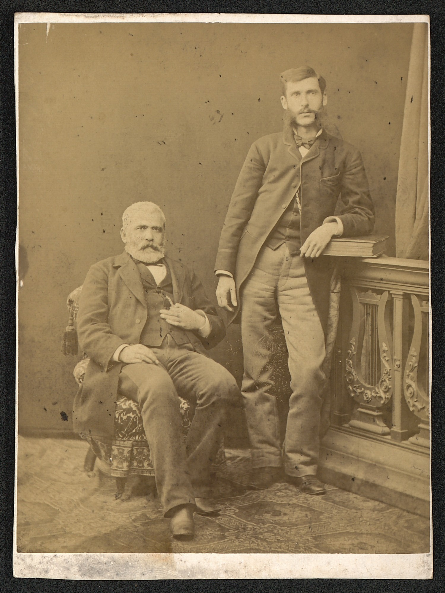 Studio portrait of Dragan Tsankov and Aleksander Lyudskanov, © St. Cyril and St. Methodius National Library