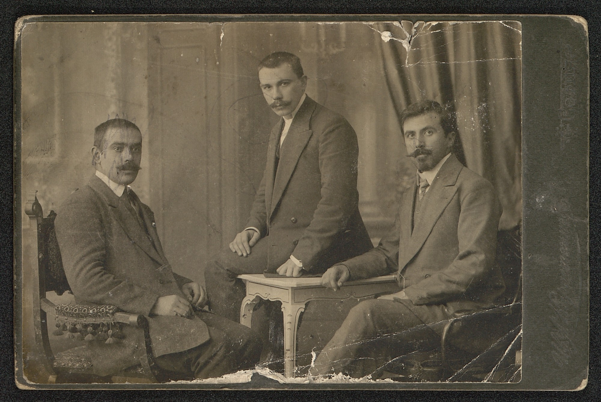 Group portrait of three men, © St. Cyril and St. Methodius National Library