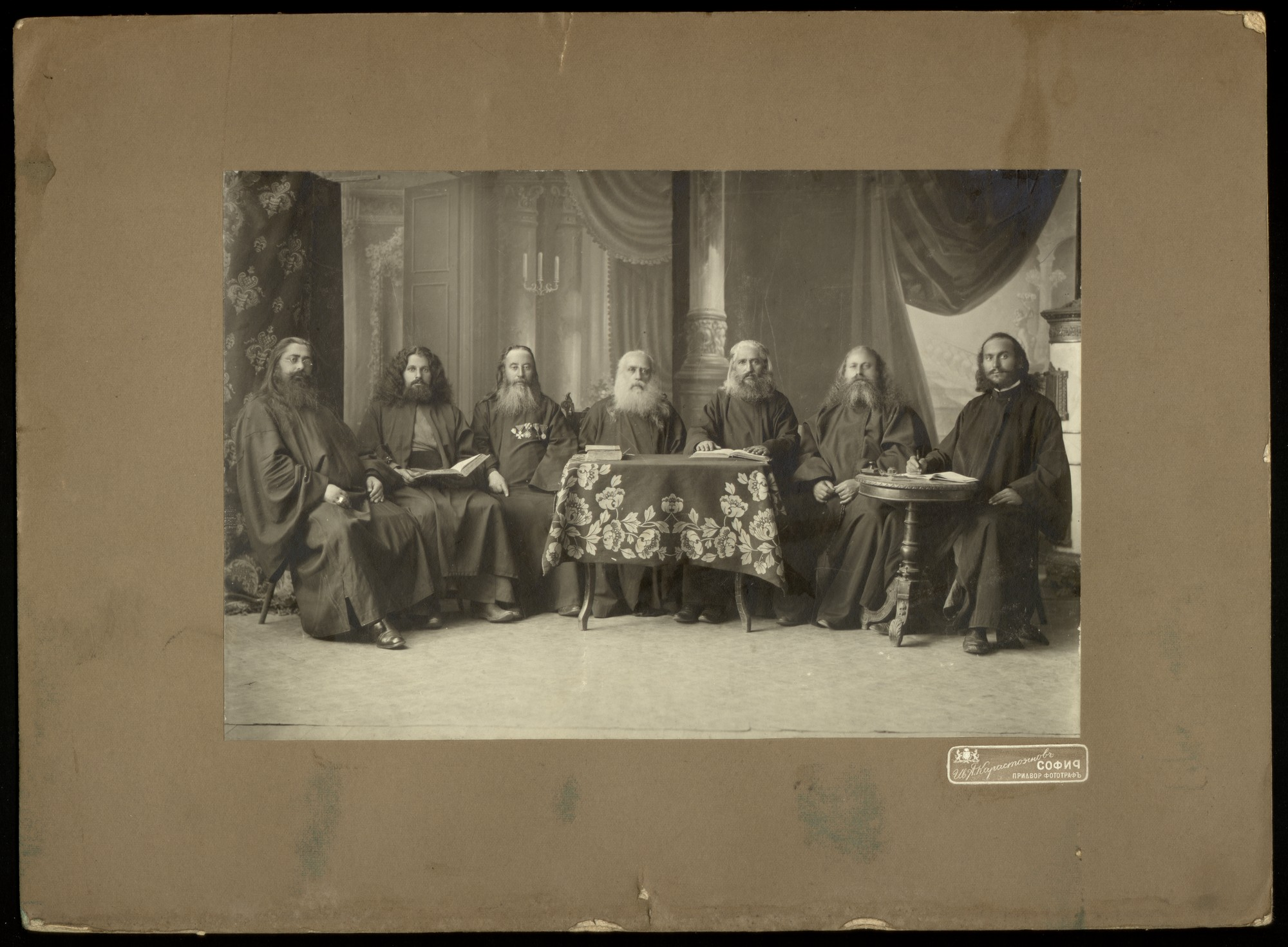 Members of the Leading Institution of the First Bulgarian Sacerdotal Convocation, © St. Cyril and St. Methodius National Library