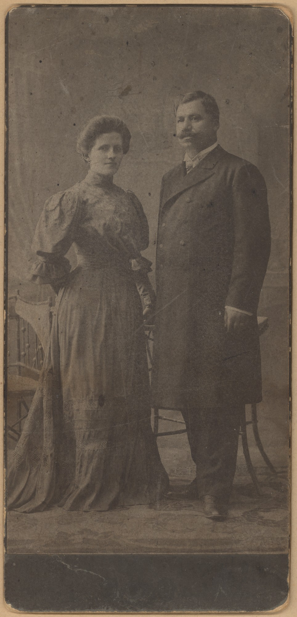 Studio portrait of Stefana and Nikola Porkov, © State Archives - Plovdiv