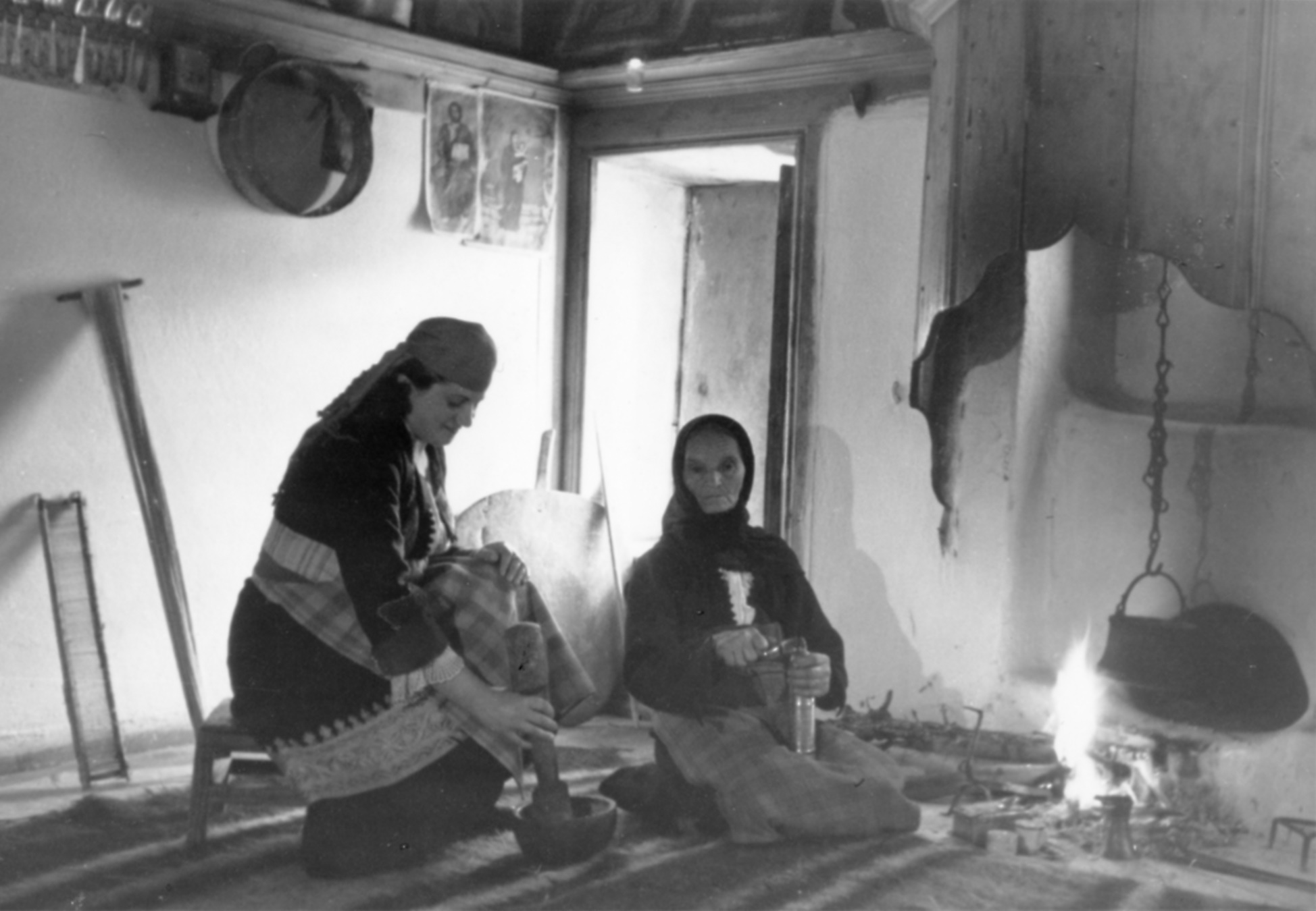 Two women in a room of a peasant's house, © Bilyana Braykova Karastoyanova