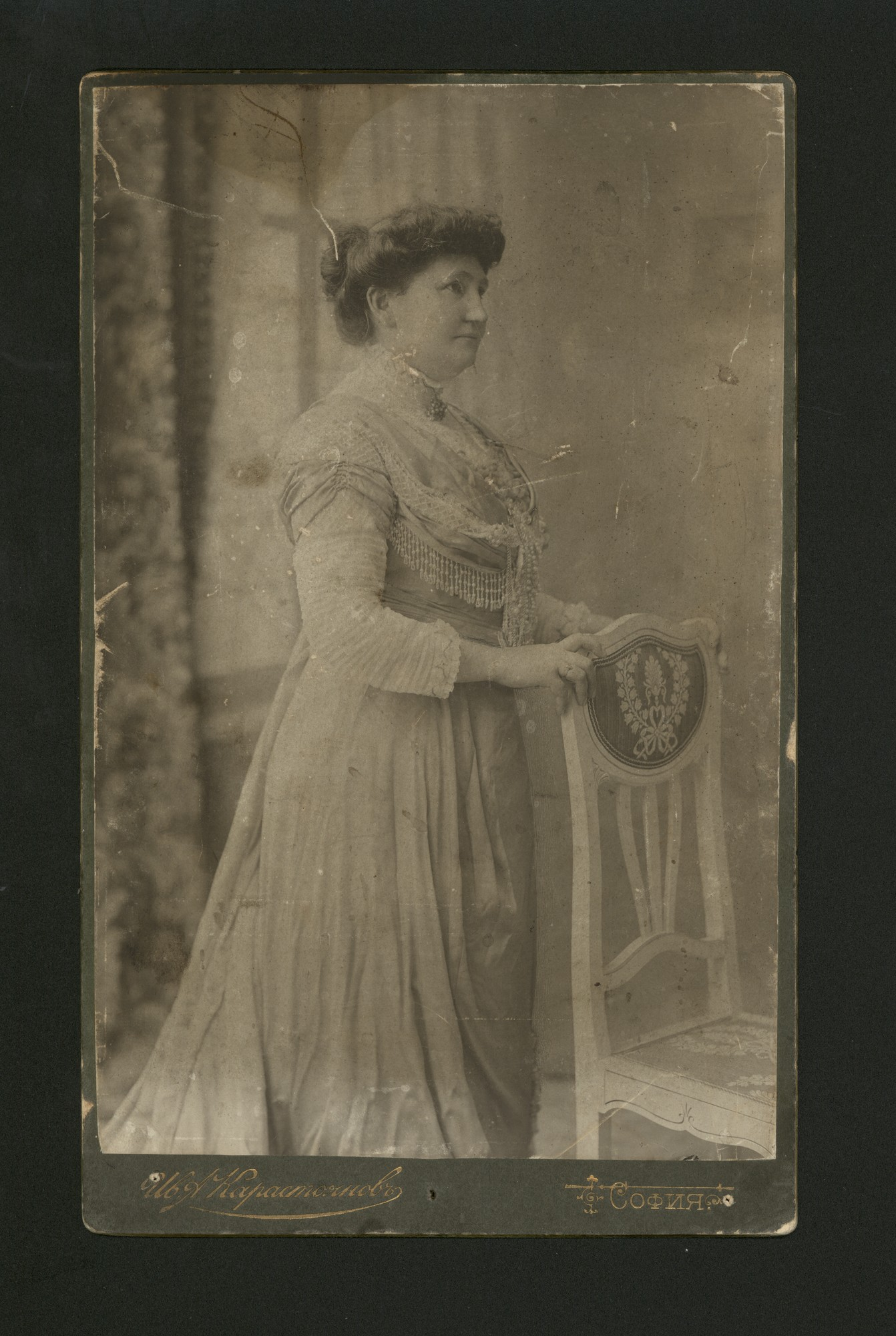 Studio portrait of Anastasia K. Stoyanova, © Central State Archives
