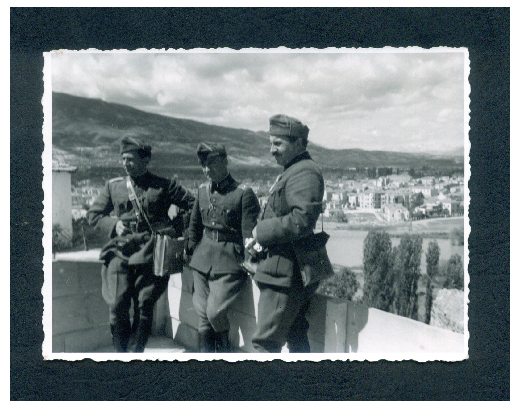Three men in military uniforms, © Bilyana Braykova Karastoyanova