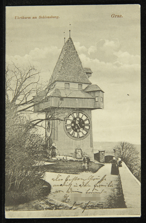 Uhrturm am Schlossberg. Graz.