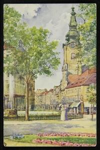 Graz, Bismarckplatz und Herrengasse