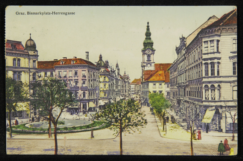 Graz. Bismarckplatz-Herrengasse