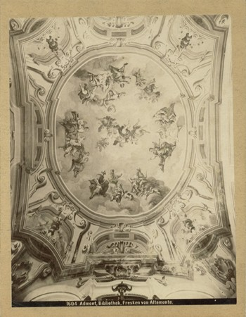 Seitliches Gewölbefresko Allegorie aller Wissenschaften (Gesamtansicht)